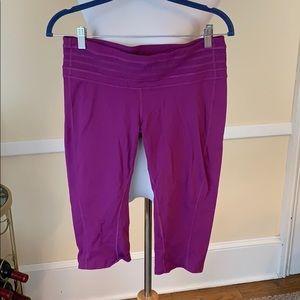 Prana Large Capri Leggings in Purple EUC